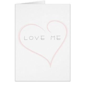 AME-ME cartão cor-de-rosa dos namorados do coração
