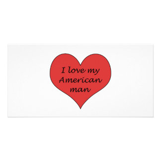 Ame meu homem americano cartao com foto personalizado
