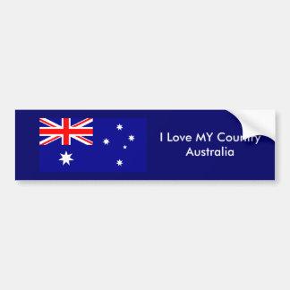 Ame MEU jGibney da bandeira de Austrália do país O Adesivo Para Carro