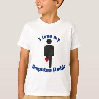 Ame meu pai do amputado camiseta