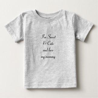 """""""Ame meu t-shirt fino do jérsei do bebê das Camiseta Para Bebê"""