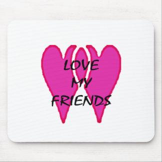 Ame meus amigos os presentes de Zazzle do MUSEU Mousepad