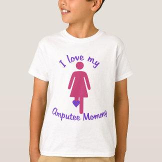 Ame minhas mamães do amputado camiseta