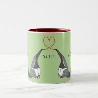 Ame-o caneca com Anteaters bonitos