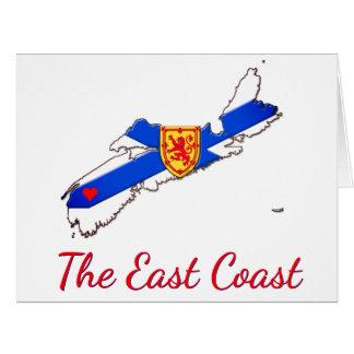 Ame o cartão de Nova Escócia da costa leste