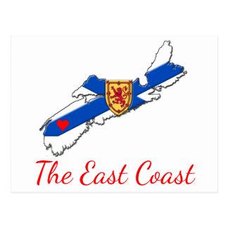 Ame o cartão do coração N.S. da costa leste