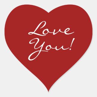 Ame-o coração adesivo coração