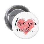Ame-o mais… coração cor-de-rosa boton