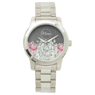 Ame-o mamã, relógio - flores