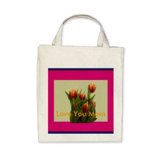 Ame-o mamã - tulipas o MUSEU Zazzle Bolsa De Lona