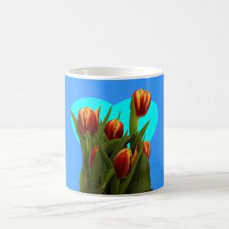Ame-o mamã - tulipas o MUSEU Zazzle Caneca