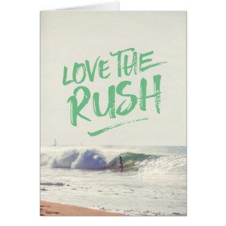 Ame o modelo seco da foto da tipografia da escova cartão