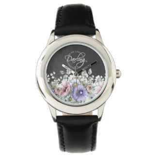 Ame-o querido, relógio - flores