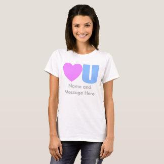 Ame-o t-shirt da mensagem para ela camiseta