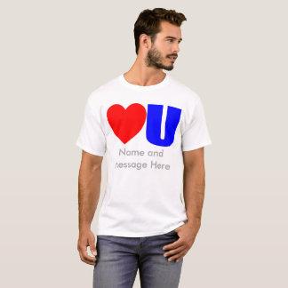 Ame-o t-shirt da mensagem para ele camiseta