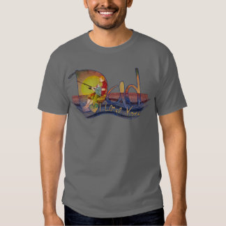 Ame-o t-shirt da pesca do pai e do filho do texto