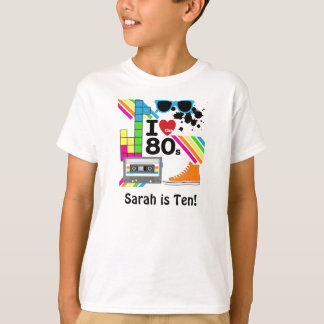 Ame o t-shirt personalizado anos 80 camiseta