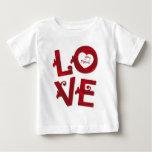 AME-O tshirt floral do bebê das letras