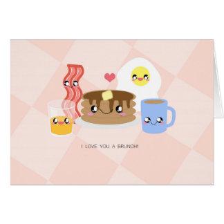 Ame-o um cartão da refeição matinal