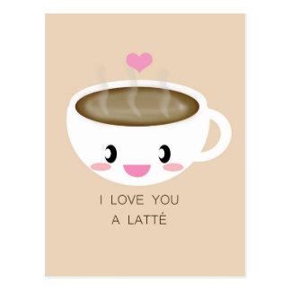 Ame-o um cartão de Latté
