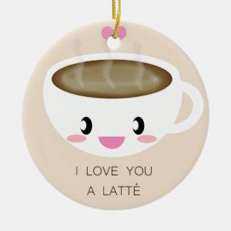 Ame-o um ornamento de Latté