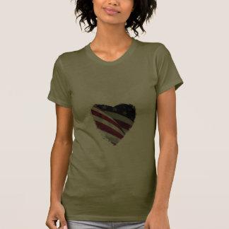 Ame os EUA, bandeira americana do coração Camiseta