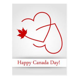 Ame para o cartão de Canadá com folha de bordo e