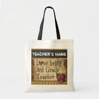 Ame ser um ó nome do professor   DIY da categoria Sacola Tote Budget