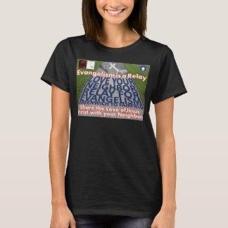 Ame seu relé vizinho para o t-shirt do evangelismo camiseta