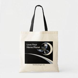 Ame seu saco de compras Home do planeta Bolsa Tote