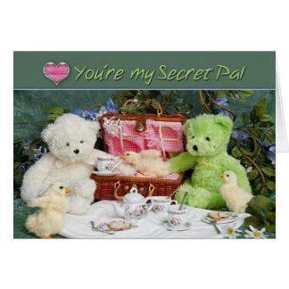 Ame tê-lo para um amigo secreto - o cartão -