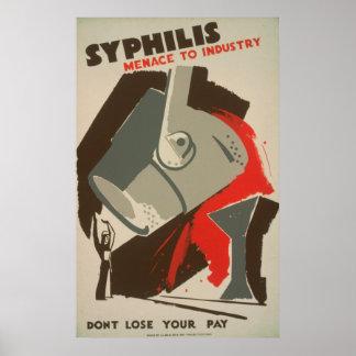 Ameaça da sífilis aos posters 1940 de WPA da