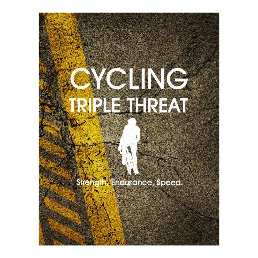 Ameaça SUPERIOR triplicar-se do ciclismo Modelo De Panfletos