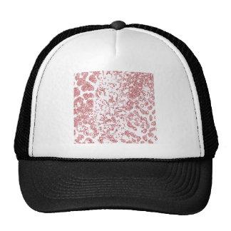 Ameba vermelha do leopardo boné