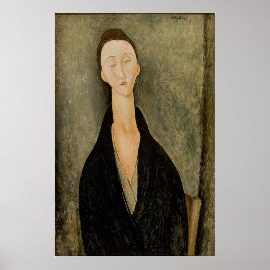Amedeo Modigliani - Portait Lunia Czechowska 1918 Pôster