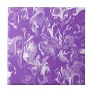 Ameixa & azulejo misturado branco da cor