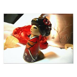 Ameixa vermelha mim convite 12.7 x 17.78cm