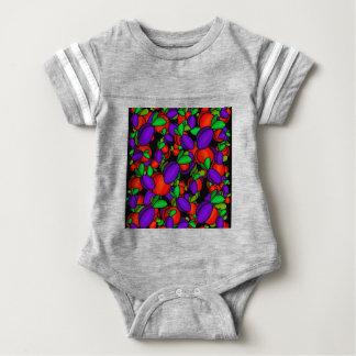 Ameixas e pêssegos body para bebê