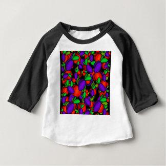 Ameixas e pêssegos camiseta para bebê