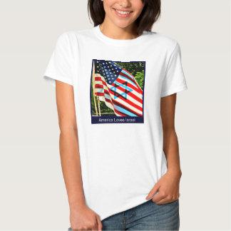 América ama o t-shirt de Israel