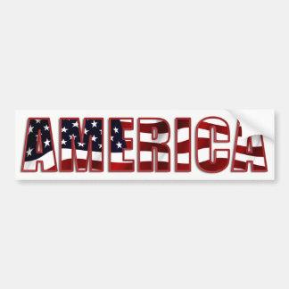 América colorida e patriótica adesivo de para-choque