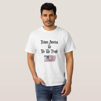 América do retorno: T-shirt do negócio dos homens Camiseta