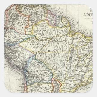 Ámérica do Sul 17 Adesivo Em Forma Quadrada
