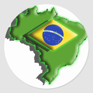 Ámérica do Sul Brasil 3d Adesivos