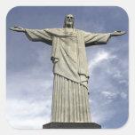 Ámérica do Sul, Brasil, Rio de Janeiro. Cristo Adesivo Quadrado