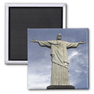 Ámérica do Sul, Brasil, Rio de Janeiro. Cristo Ímã Quadrado