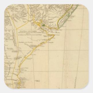 Ámérica do Sul sul Adesivo Quadrado