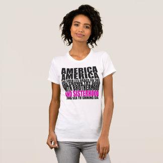América o bonito com irmandade camiseta