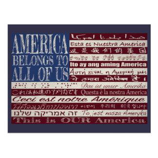 América pertence a todos nós cartão