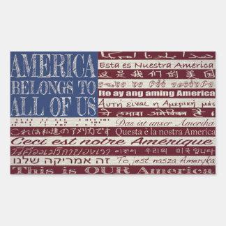 América pertence a todos nós etiqueta